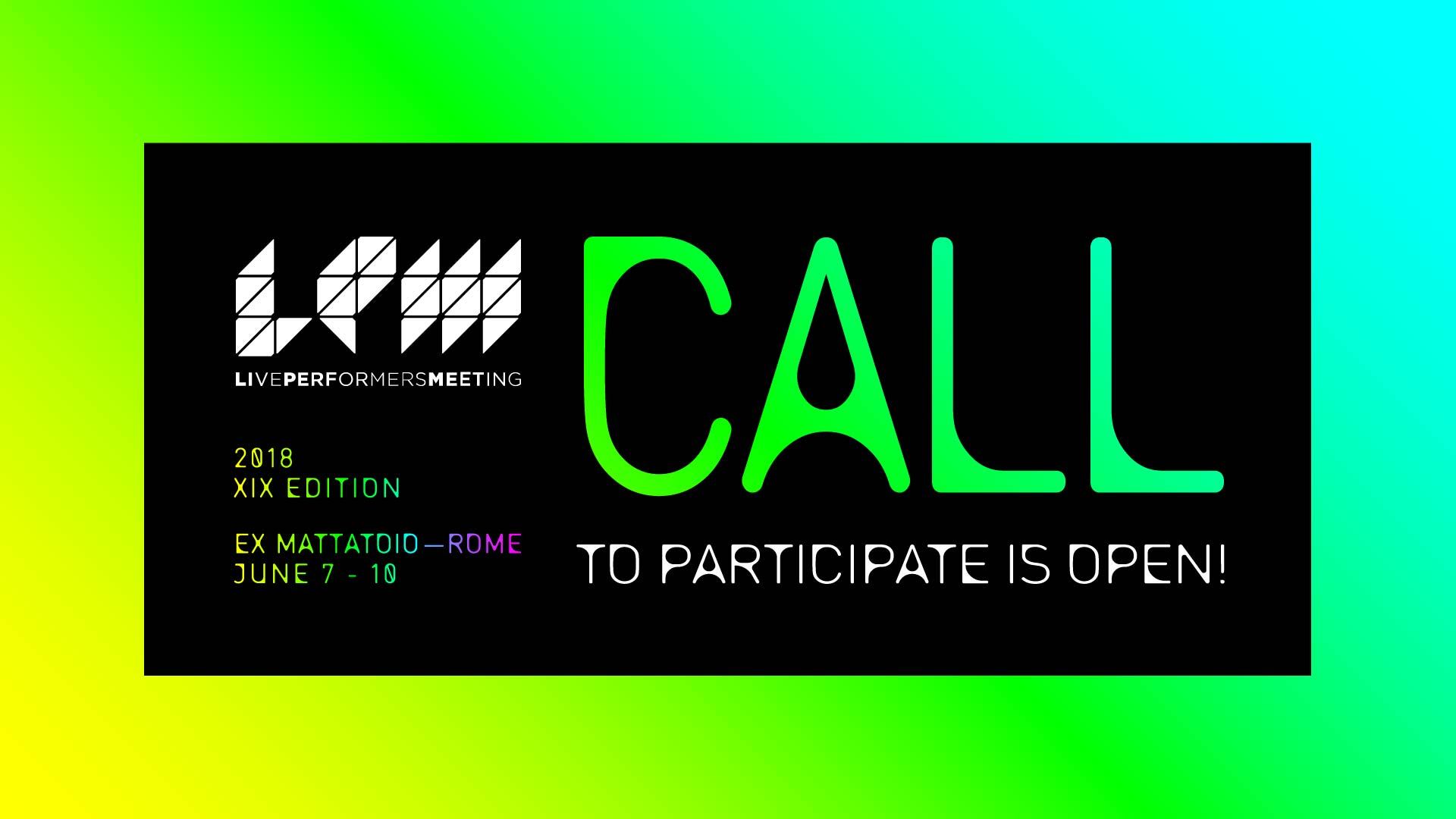 Image for: LPM 2018 Rome | CALL TO PARTICIPATE